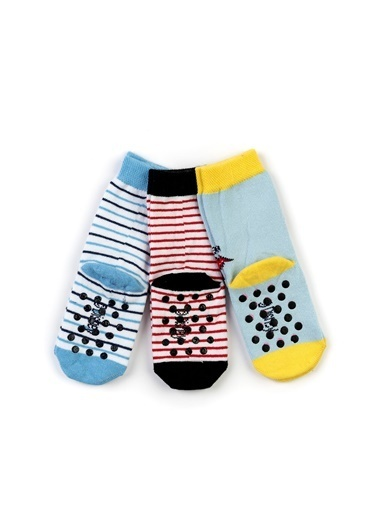 Mickey Mouse 6'lı Kaydırmaz Soket Çorap 17009 Renkli